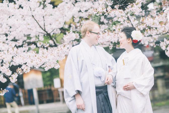 京都で国際結婚の結婚式の写真撮影