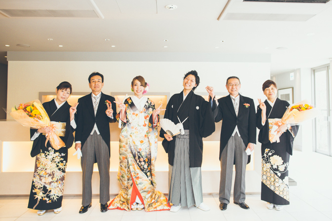 大阪で前撮りと結婚式の写真撮影
