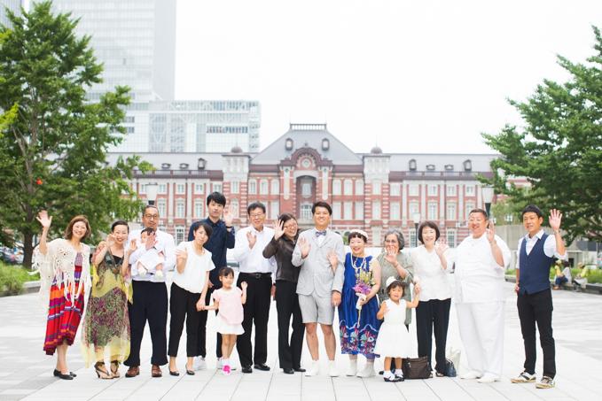 東京駅と秋葉原で結婚式の写真撮影
