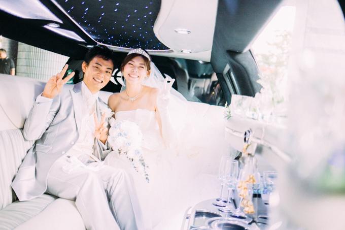 大阪の南港で結婚式の写真撮影