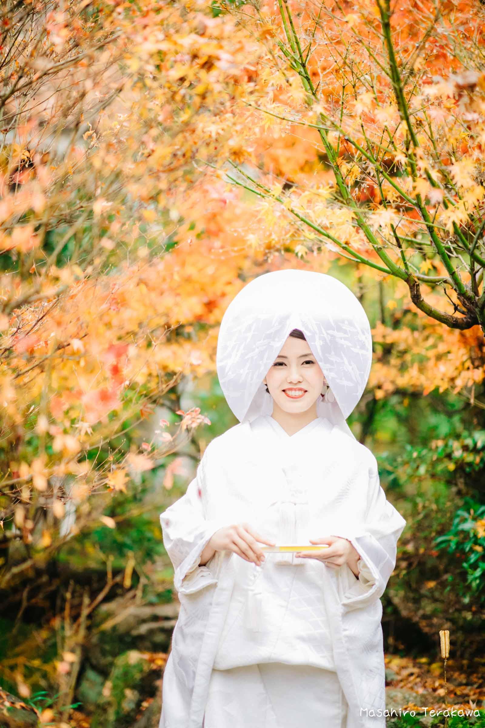 ご自宅(ご実家)で結婚式の和装前撮り(白無垢・綿帽子)3