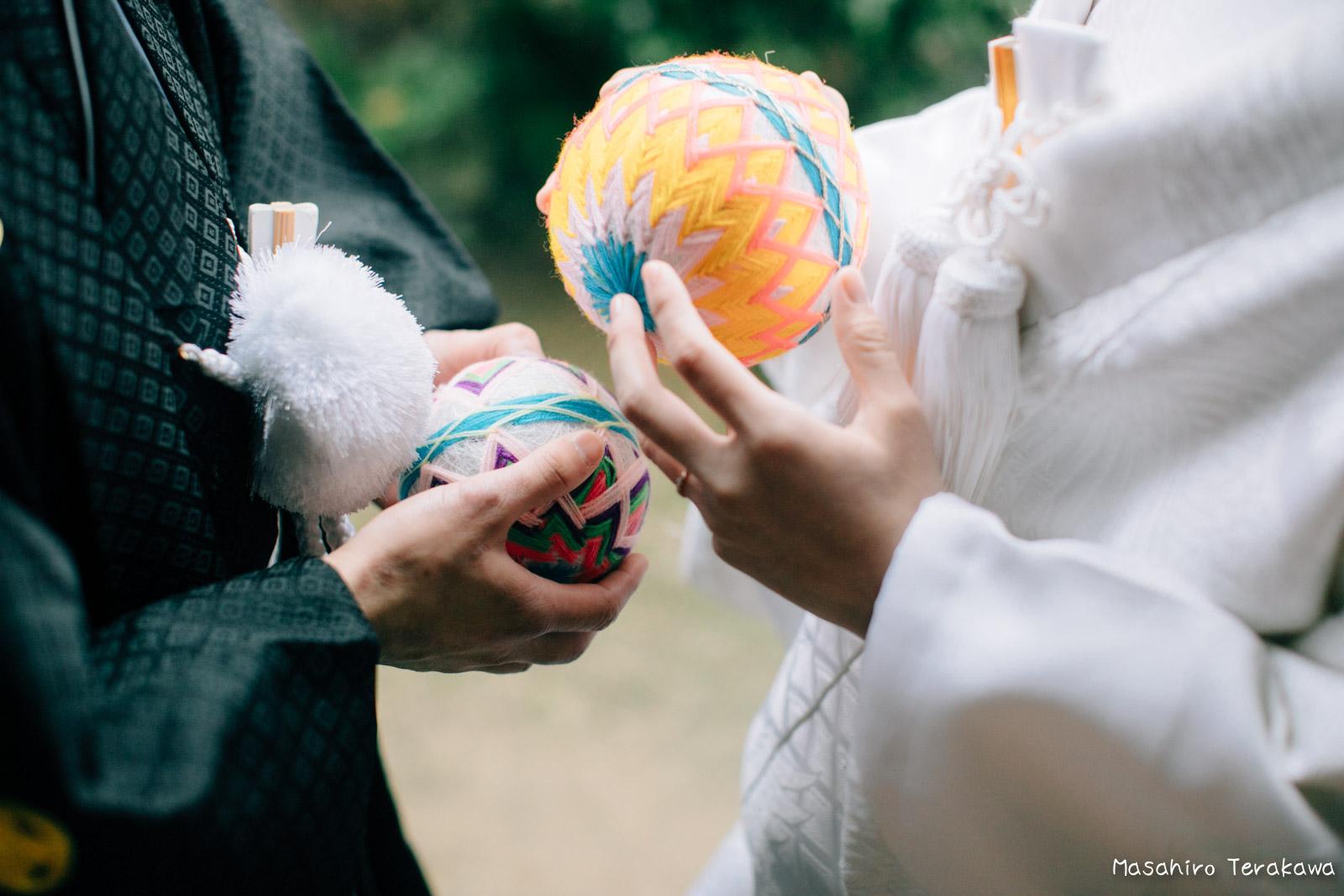 ご自宅(ご実家)で結婚式の和装前撮り(白無垢・綿帽子)6