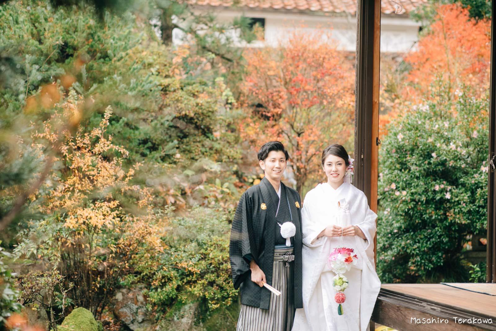 ご自宅(ご実家)で結婚式の和装前撮り(白無垢・綿帽子)10