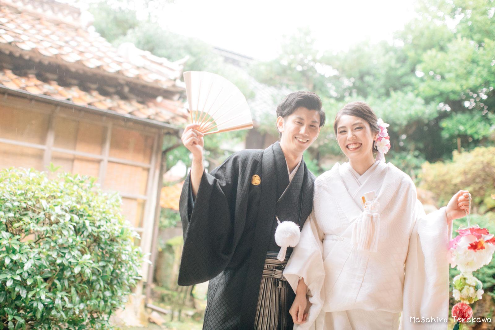 ご自宅(ご実家)で結婚式の和装前撮り(白無垢・綿帽子)1
