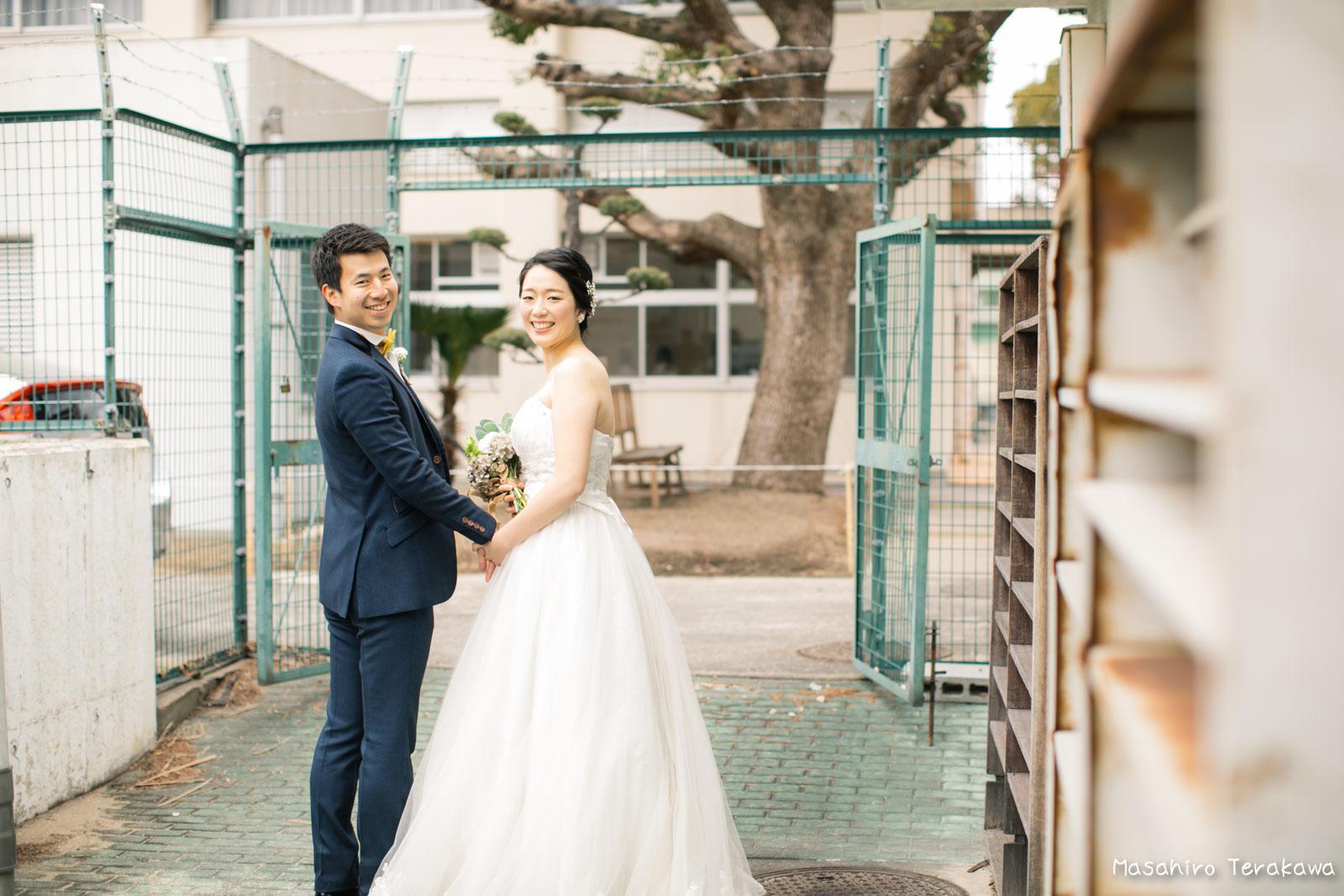 神戸の学校(母校)にて結婚式前撮り5
