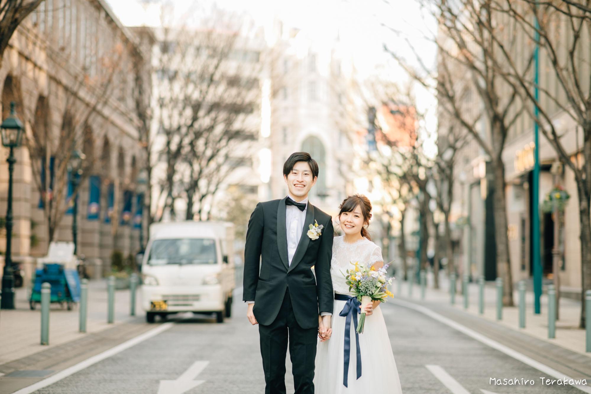 神戸(関西)結婚式の前撮り(ロケーションフォト)13