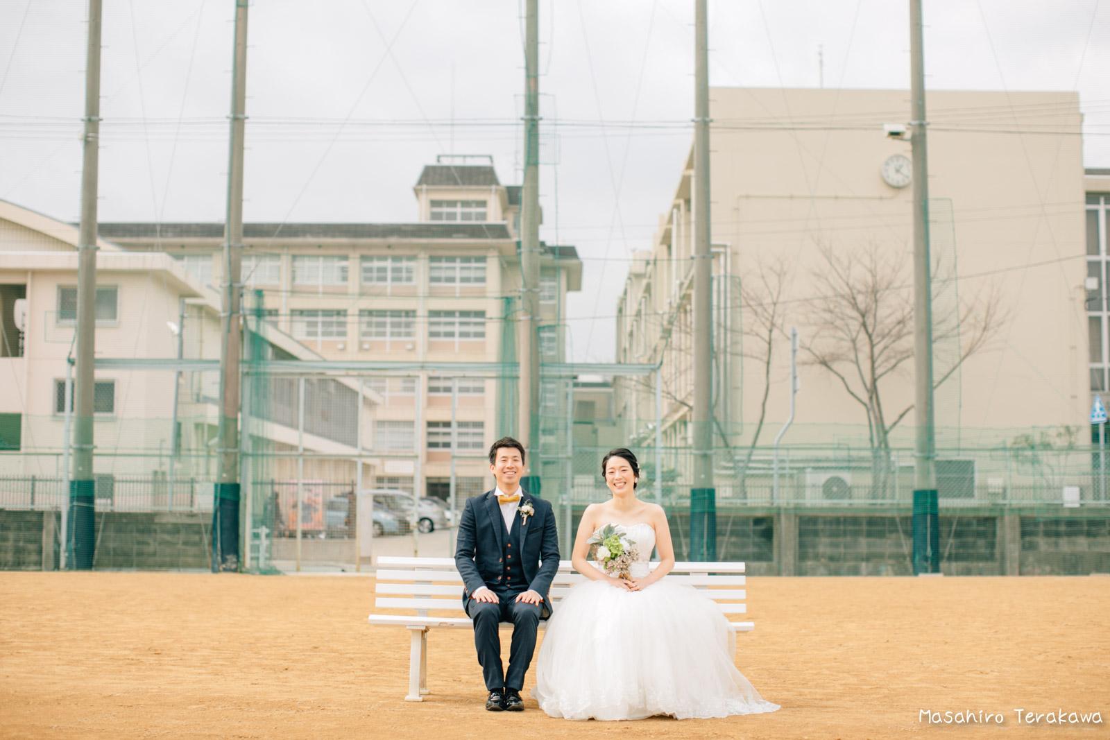 神戸の学校(母校)にて結婚式前撮り9