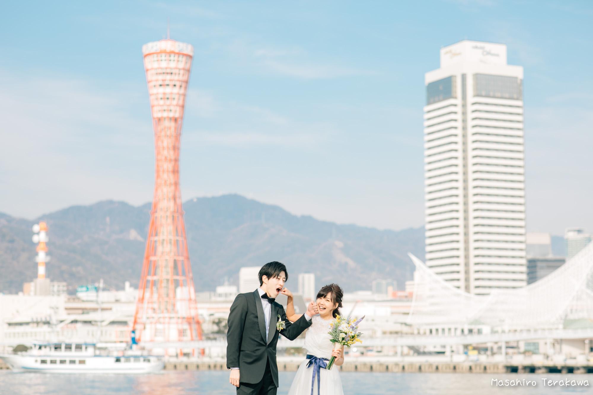 神戸(関西)結婚式の前撮り(ロケーションフォト)7
