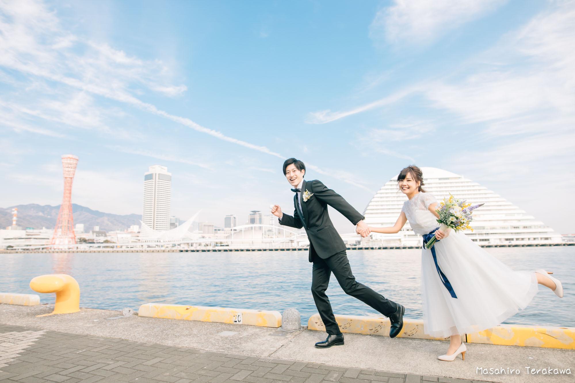 神戸(関西)結婚式の前撮り(ロケーションフォト)3
