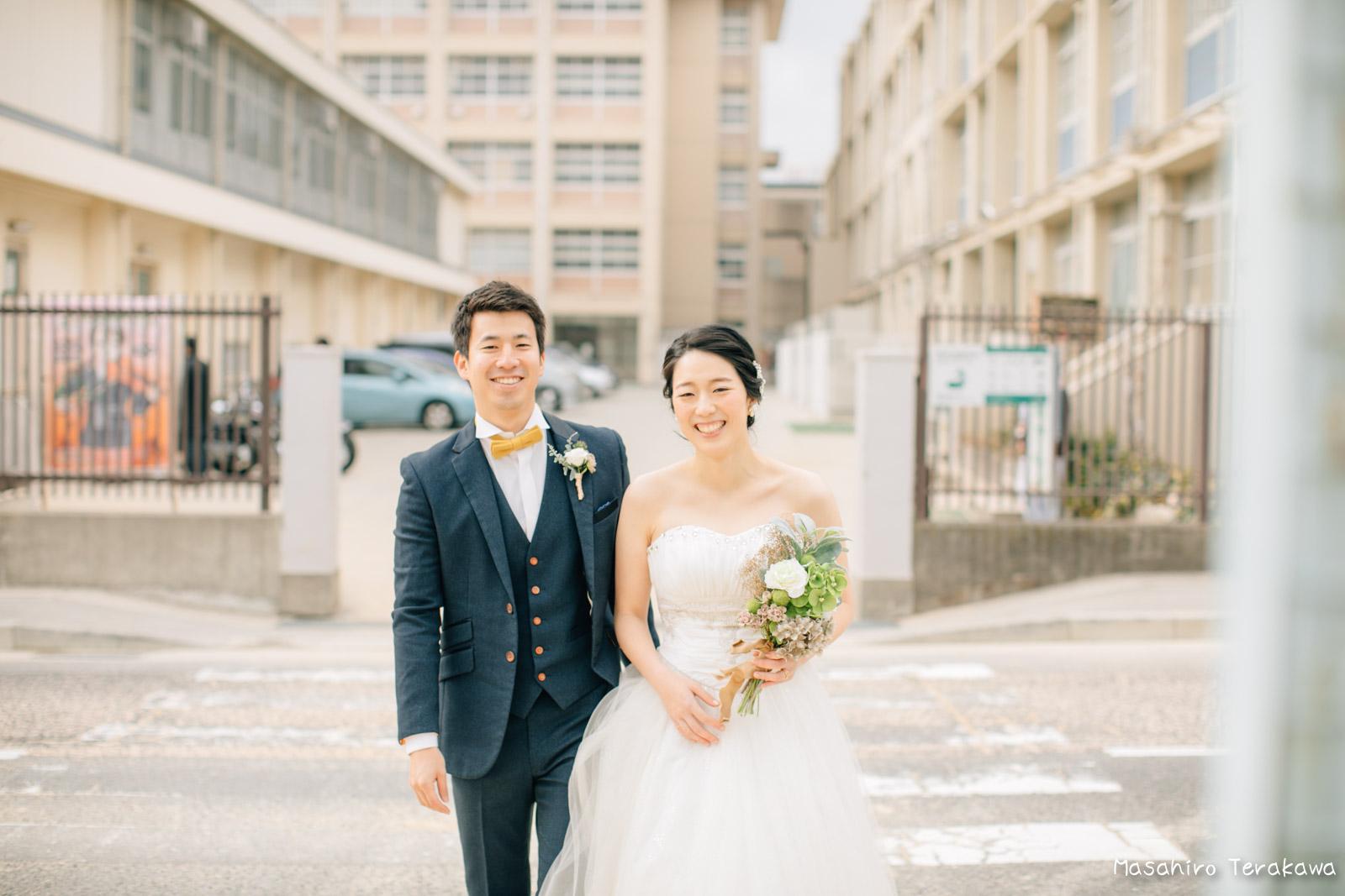 神戸の学校(母校)にて結婚式前撮り8
