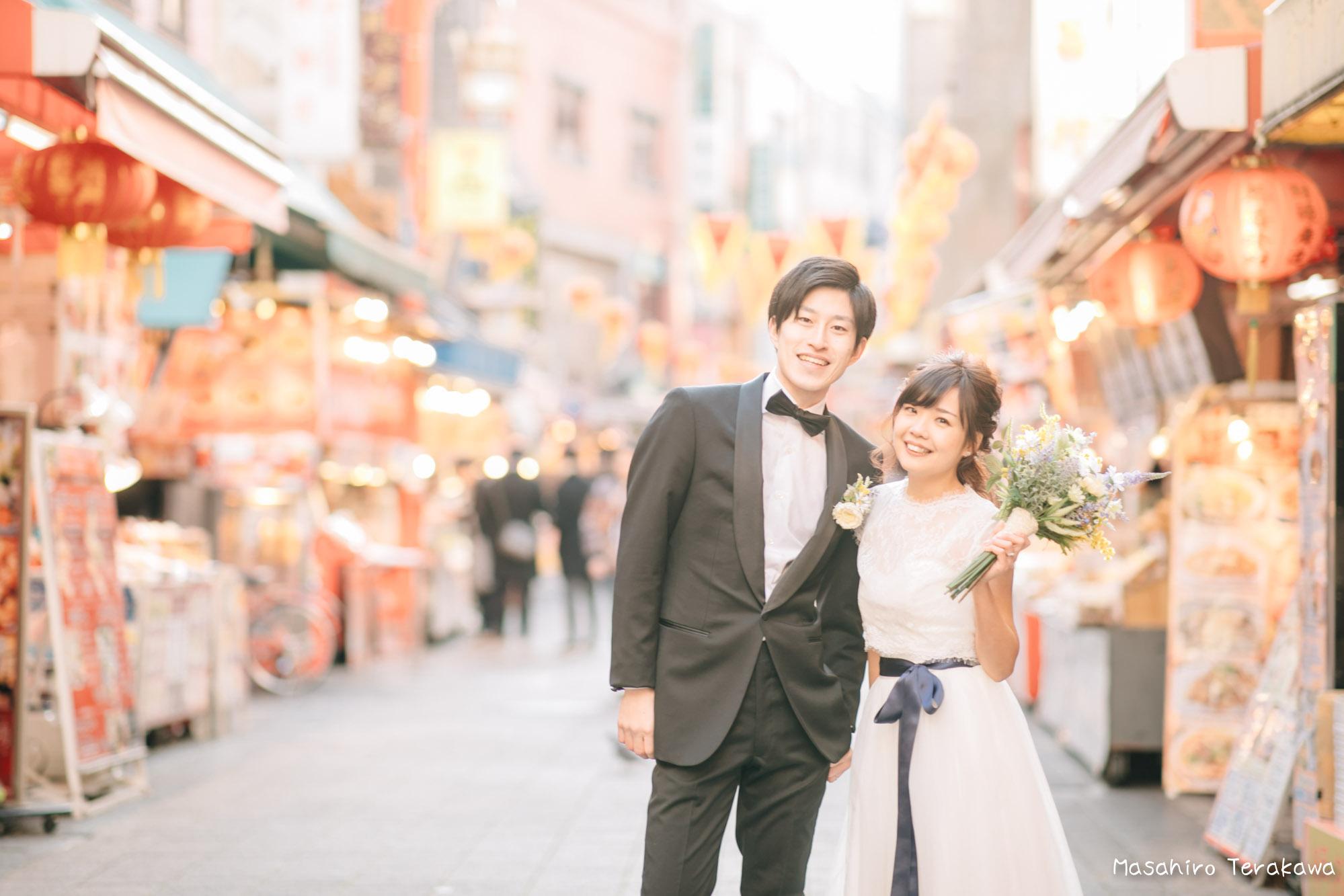 神戸(関西)結婚式の前撮り(ロケーションフォト)14