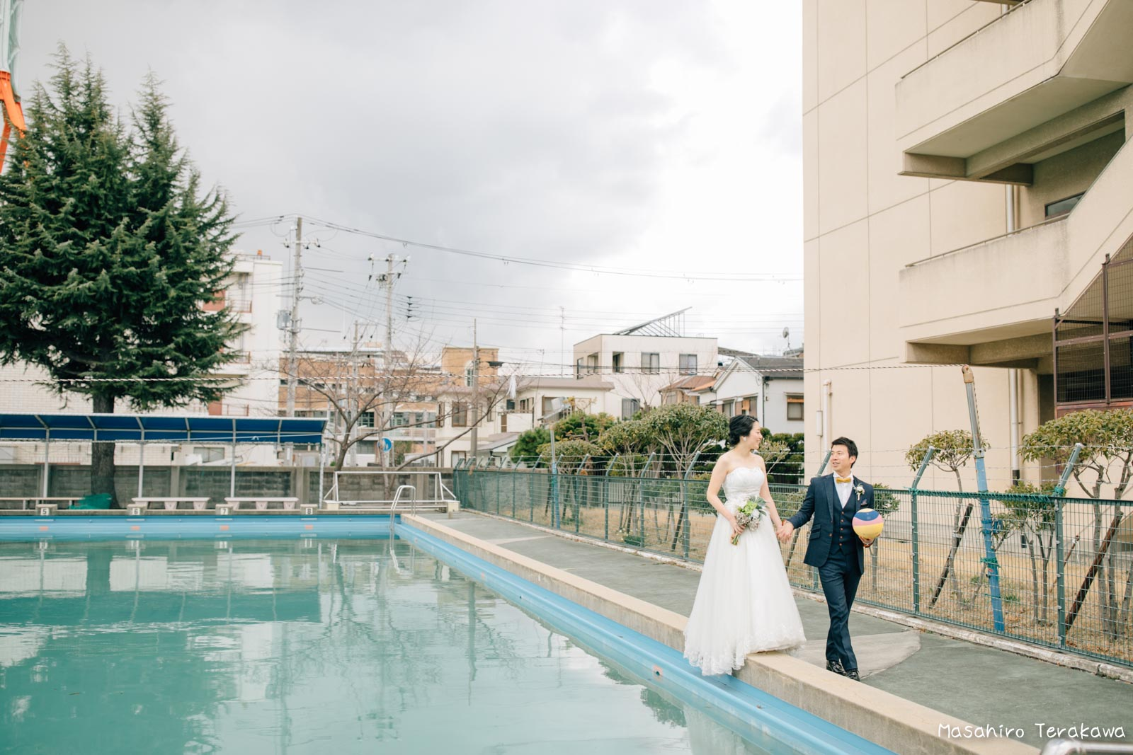 神戸の学校(母校)にて結婚式前撮り4