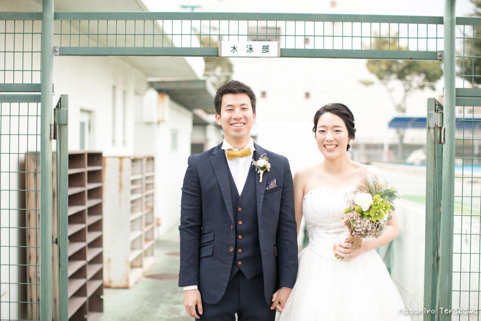神戸の学校(母校)にて結婚式前撮り3
