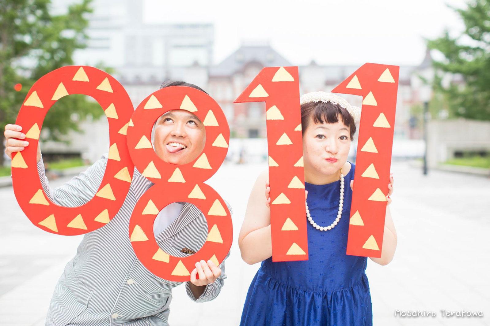 東京駅で丸ノ内中央口で結婚写真の撮影2