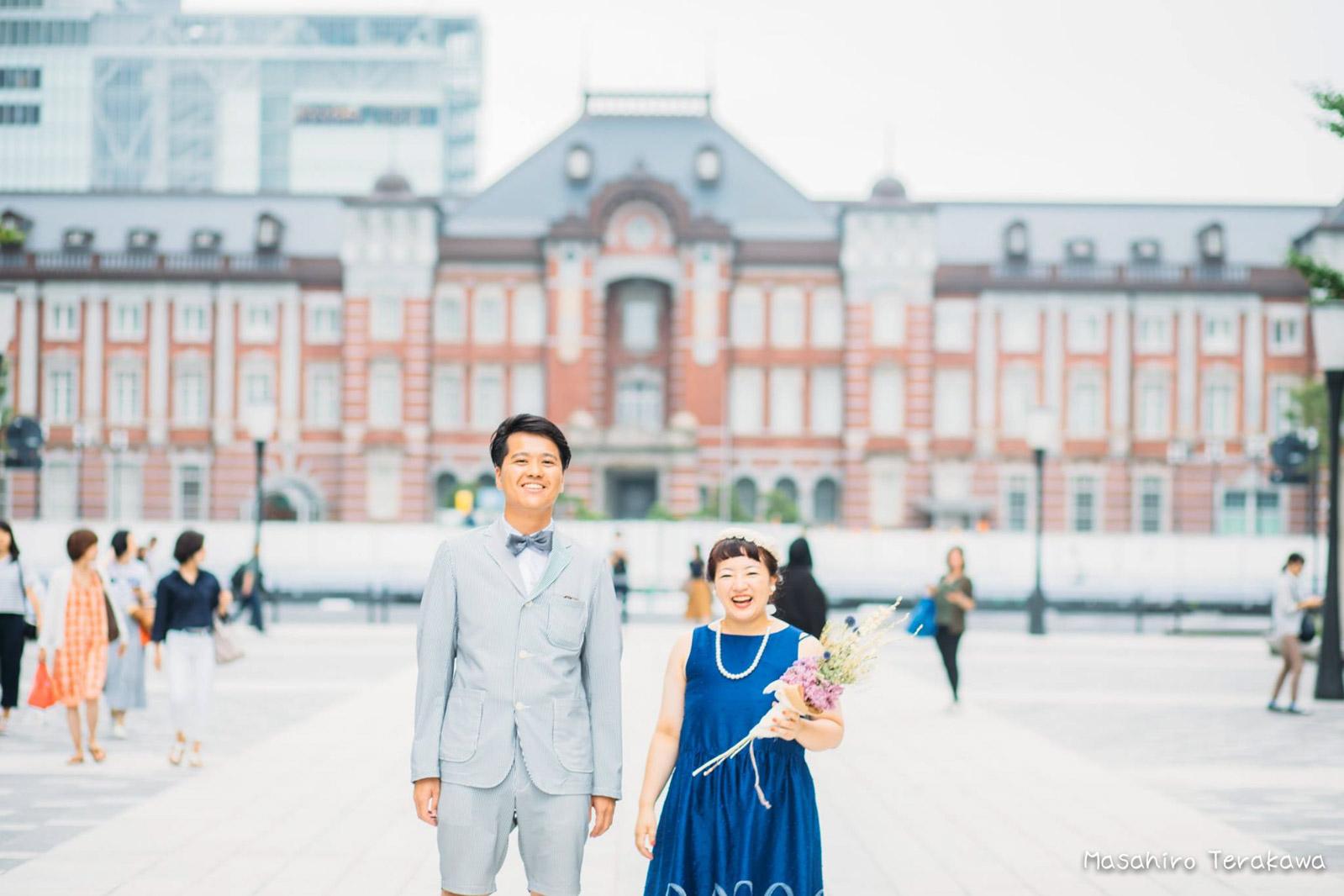 東京駅で丸ノ内中央口で結婚写真の撮影4