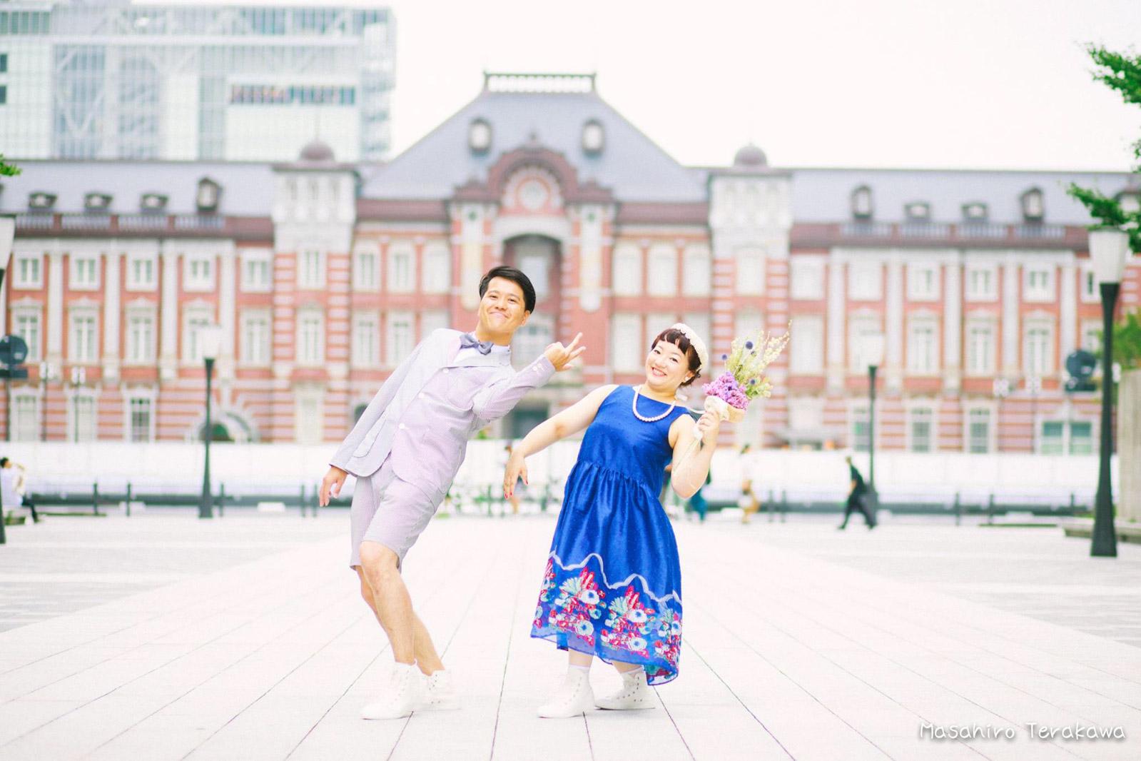 東京駅で丸ノ内中央口で結婚写真の撮影5