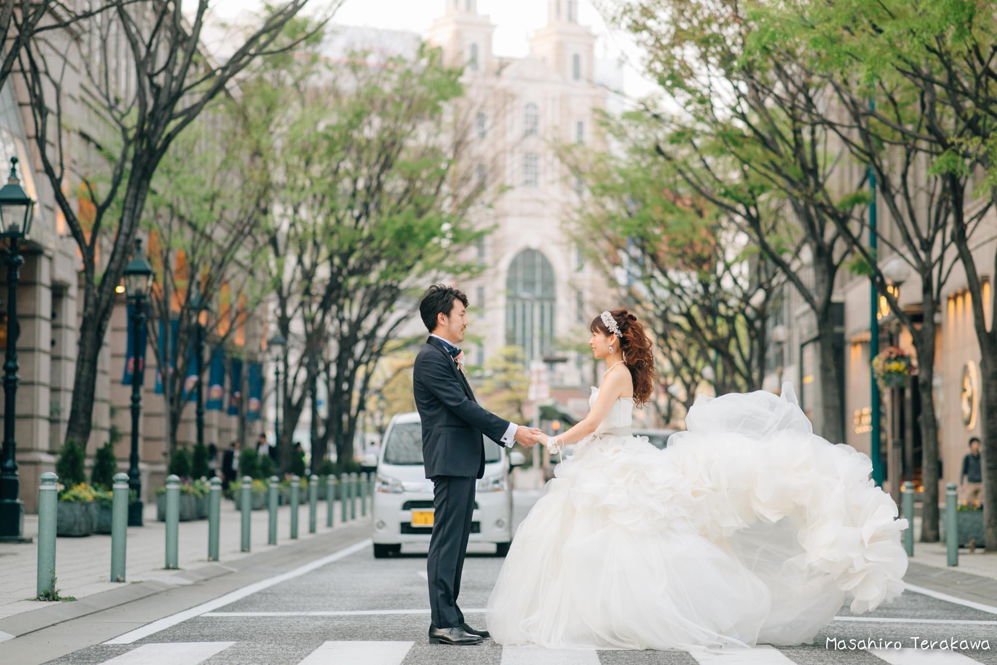 トリートドレッシングのウェディングドレスで結婚式前撮り12