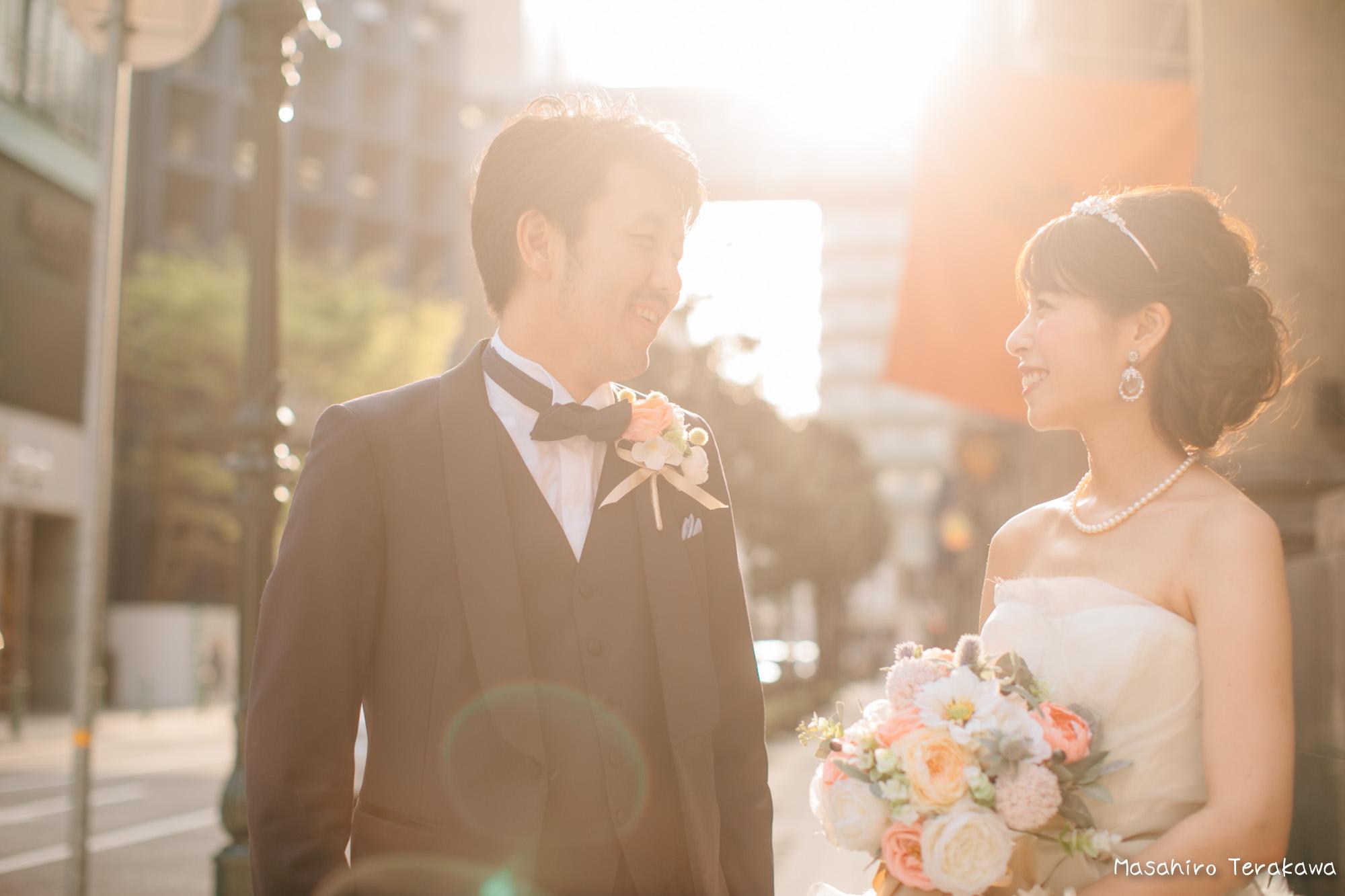 トリートドレッシングのウェディングドレスで結婚式前撮り9