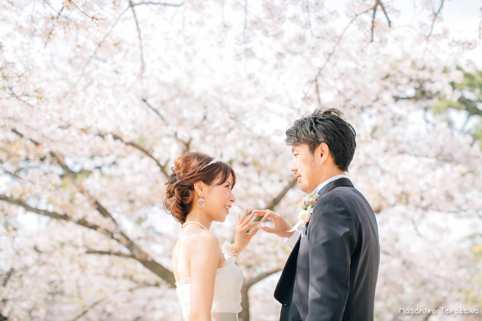 トリートドレッシングのウェディングドレスで結婚式前撮り7