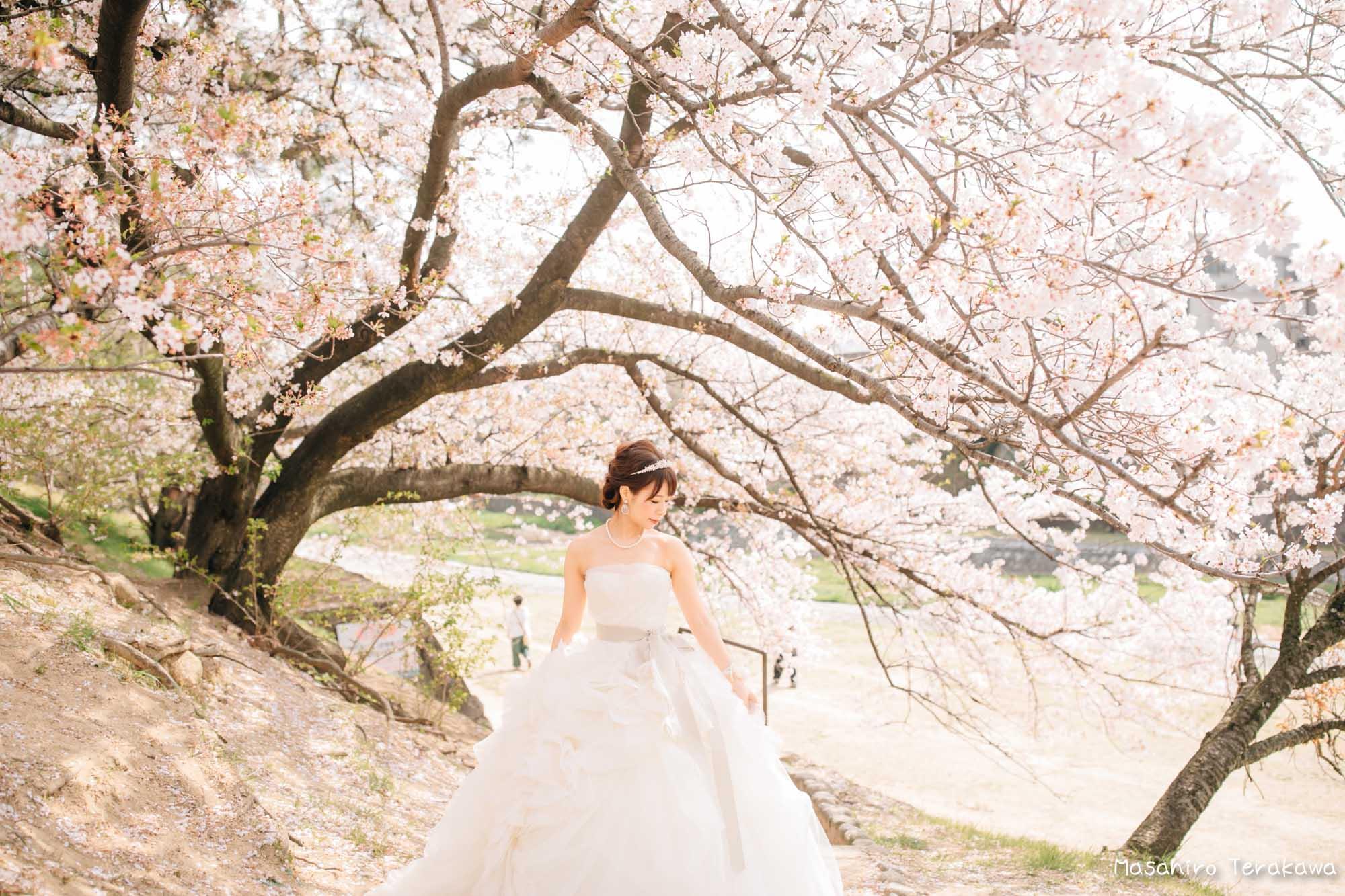 トリートドレッシングのウェディングドレスで結婚式前撮り4