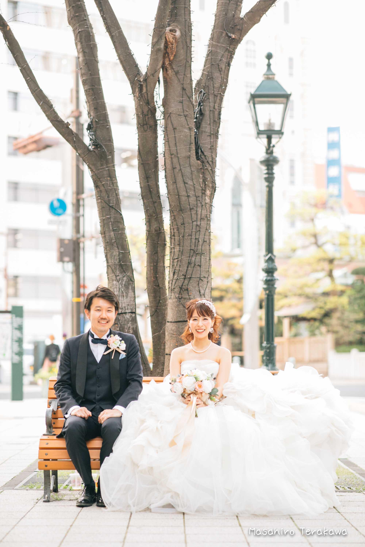 トリートドレッシングのウェディングドレスで結婚式前撮り13