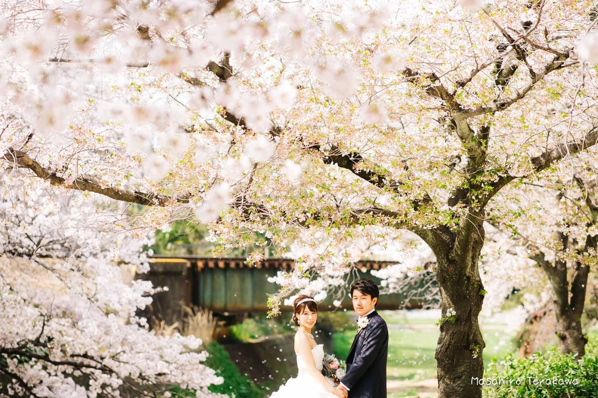 トリートドレッシングのウェディングドレスで結婚式前撮り6