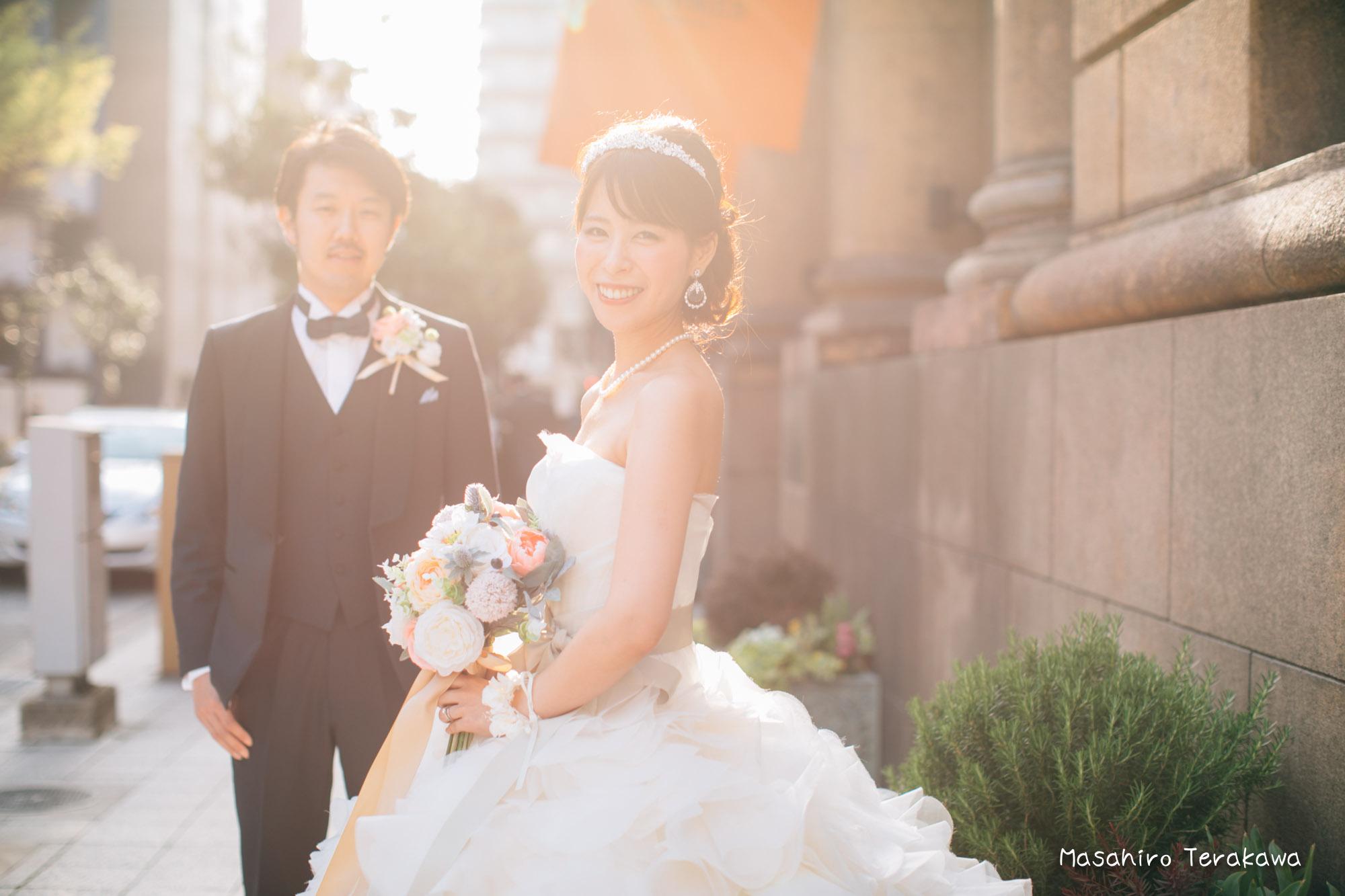 トリートドレッシングのウェディングドレスで結婚式前撮り14