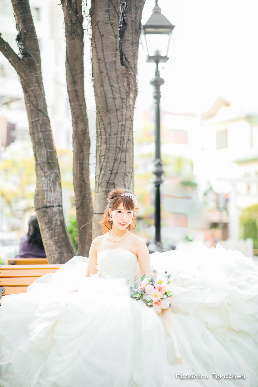 トリートドレッシングのウェディングドレスで結婚式前撮り15