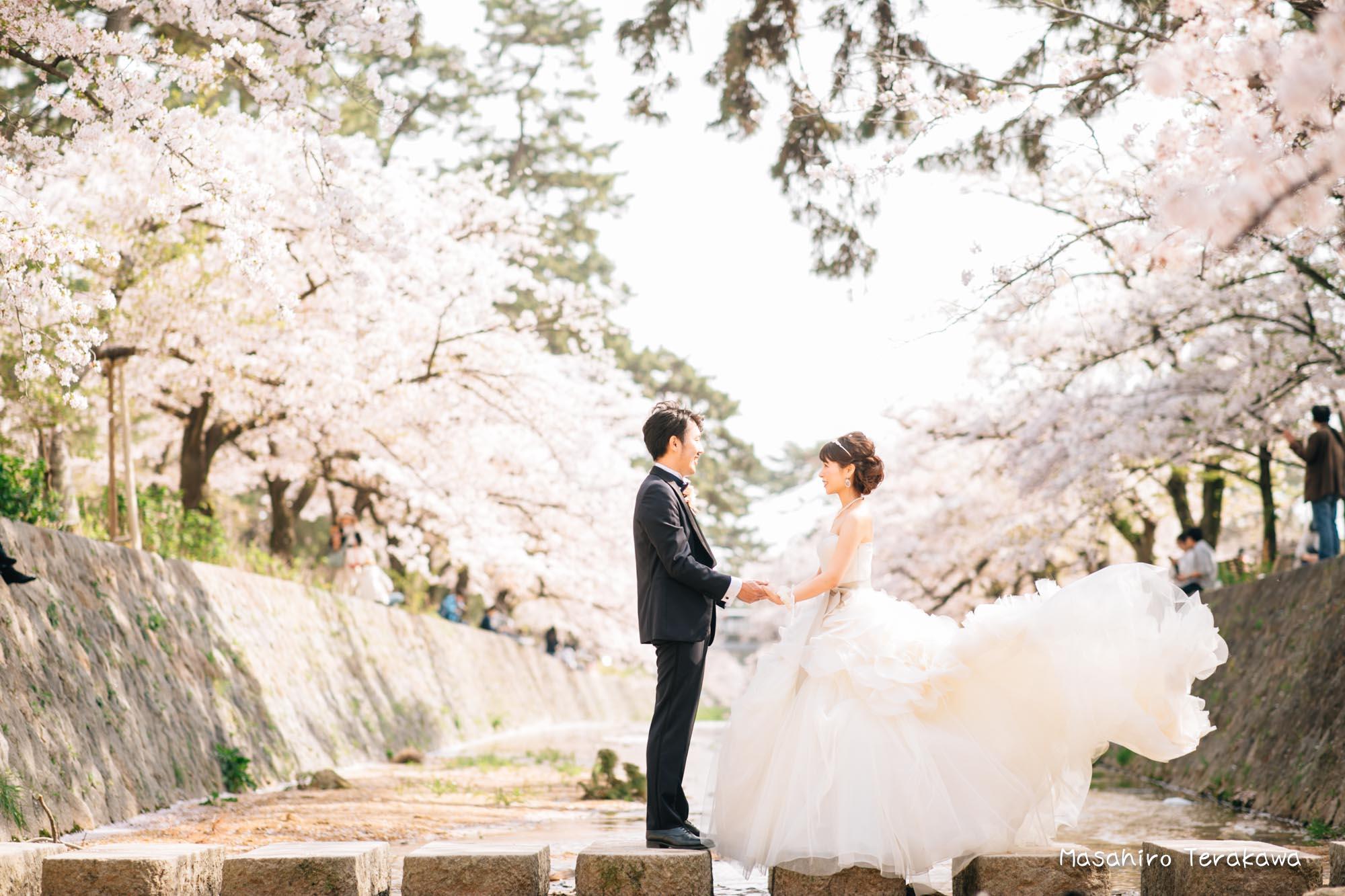 トリートドレッシングのウェディングドレスで結婚式前撮り5