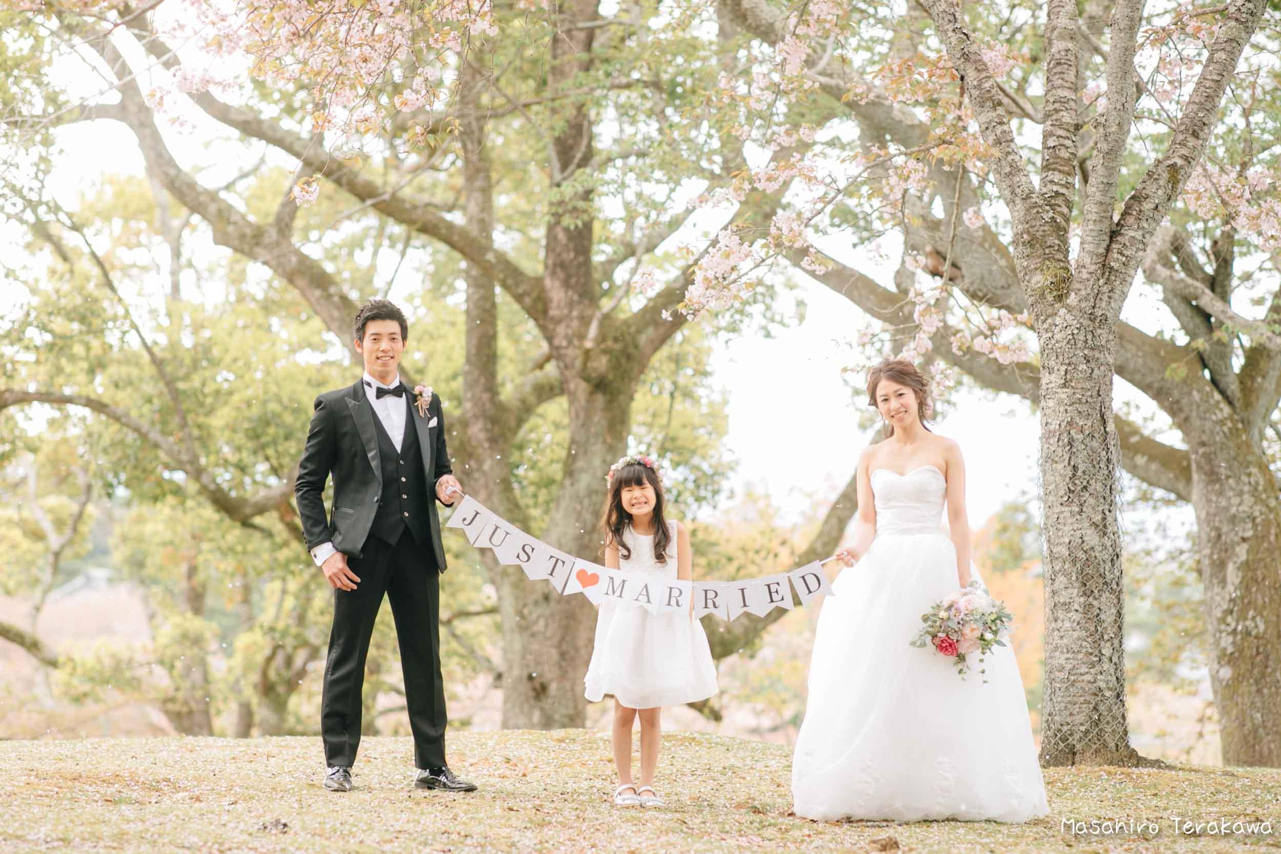 ご家族で結婚写真の前撮り2