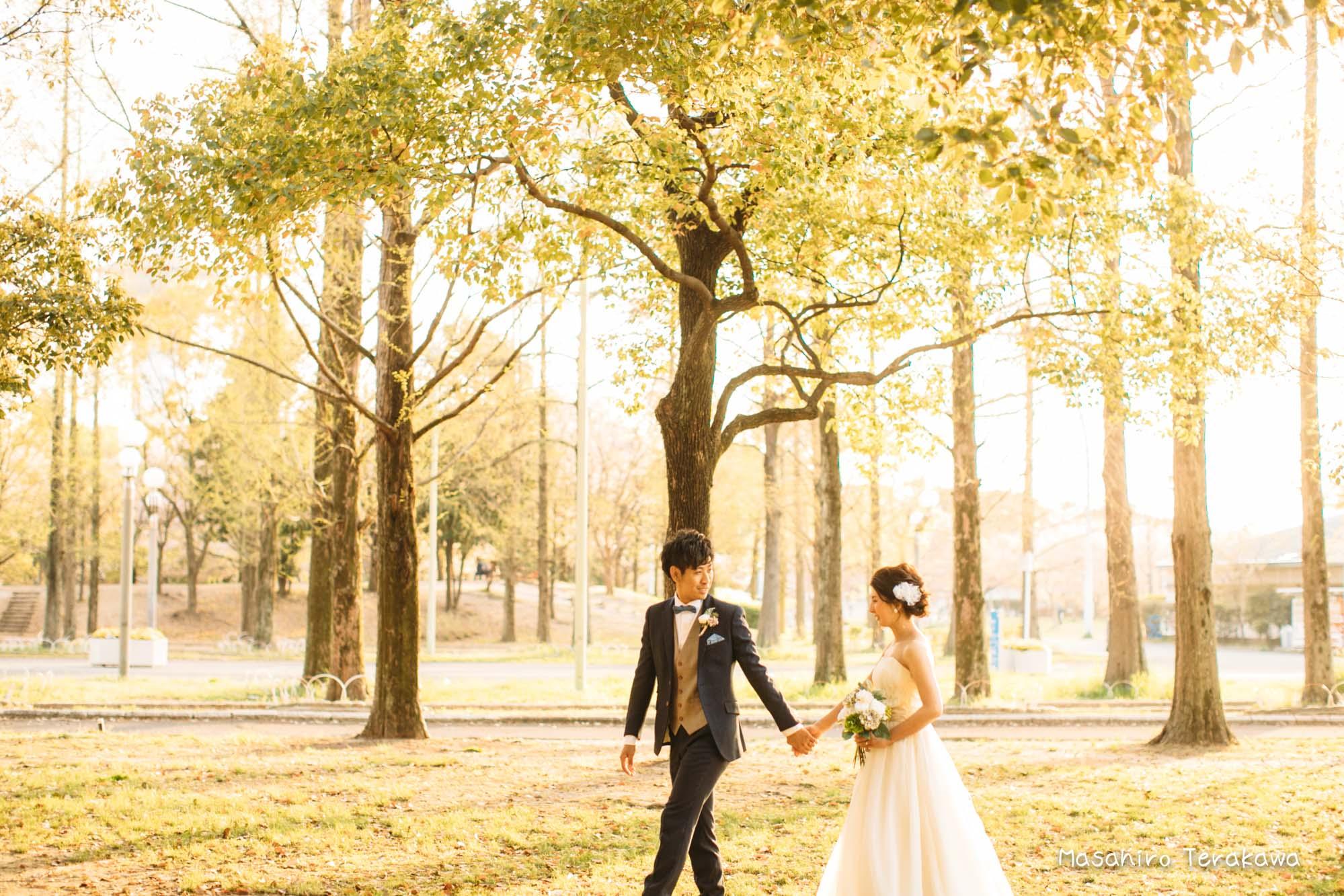 【大阪】鶴見緑地公園で結婚式の和装・洋装前撮り12