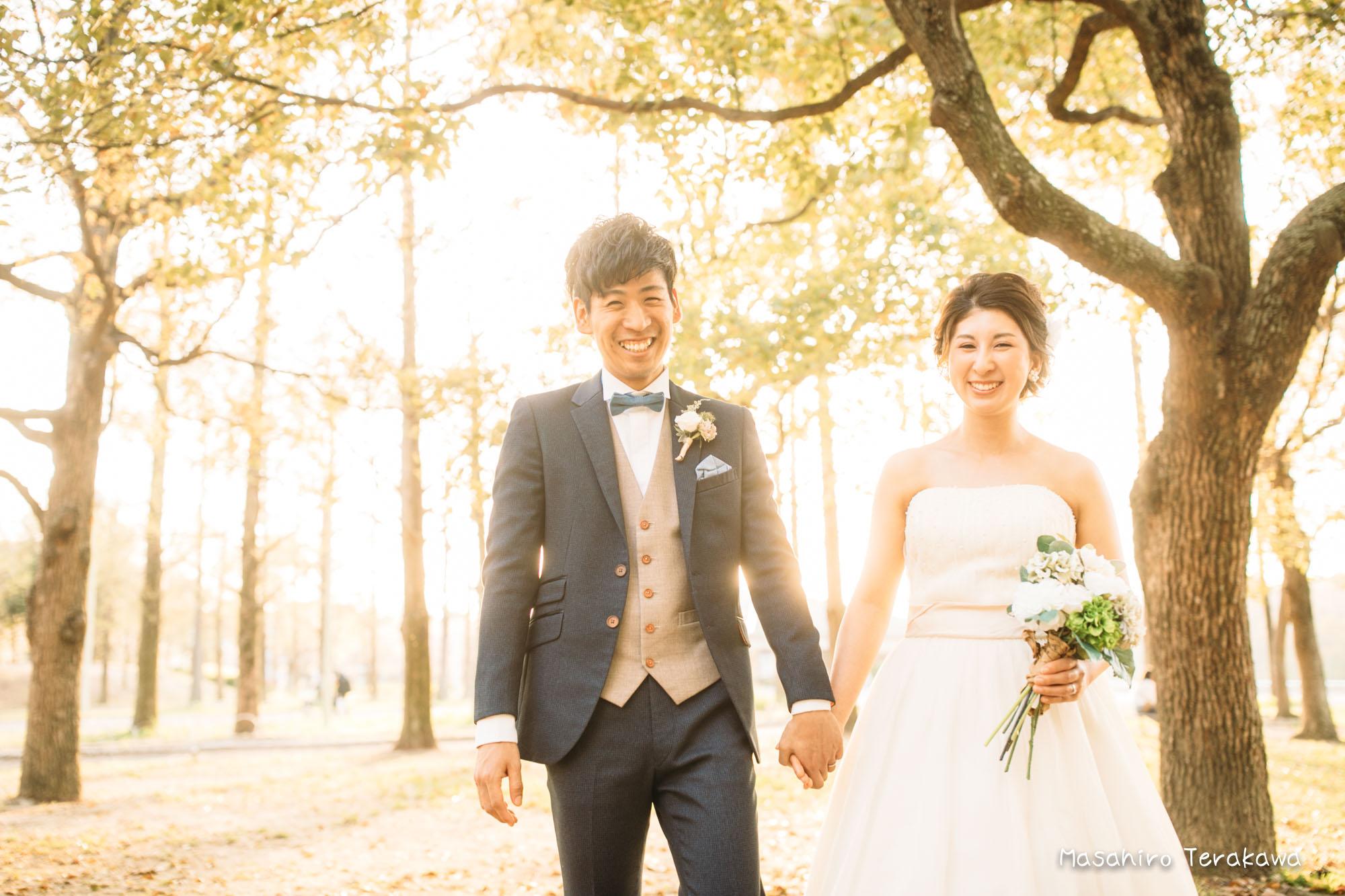 【大阪】鶴見緑地公園で結婚式の和装・洋装前撮り11