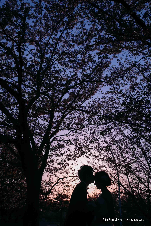 【大阪】鶴見緑地公園で結婚式の和装・洋装前撮り15