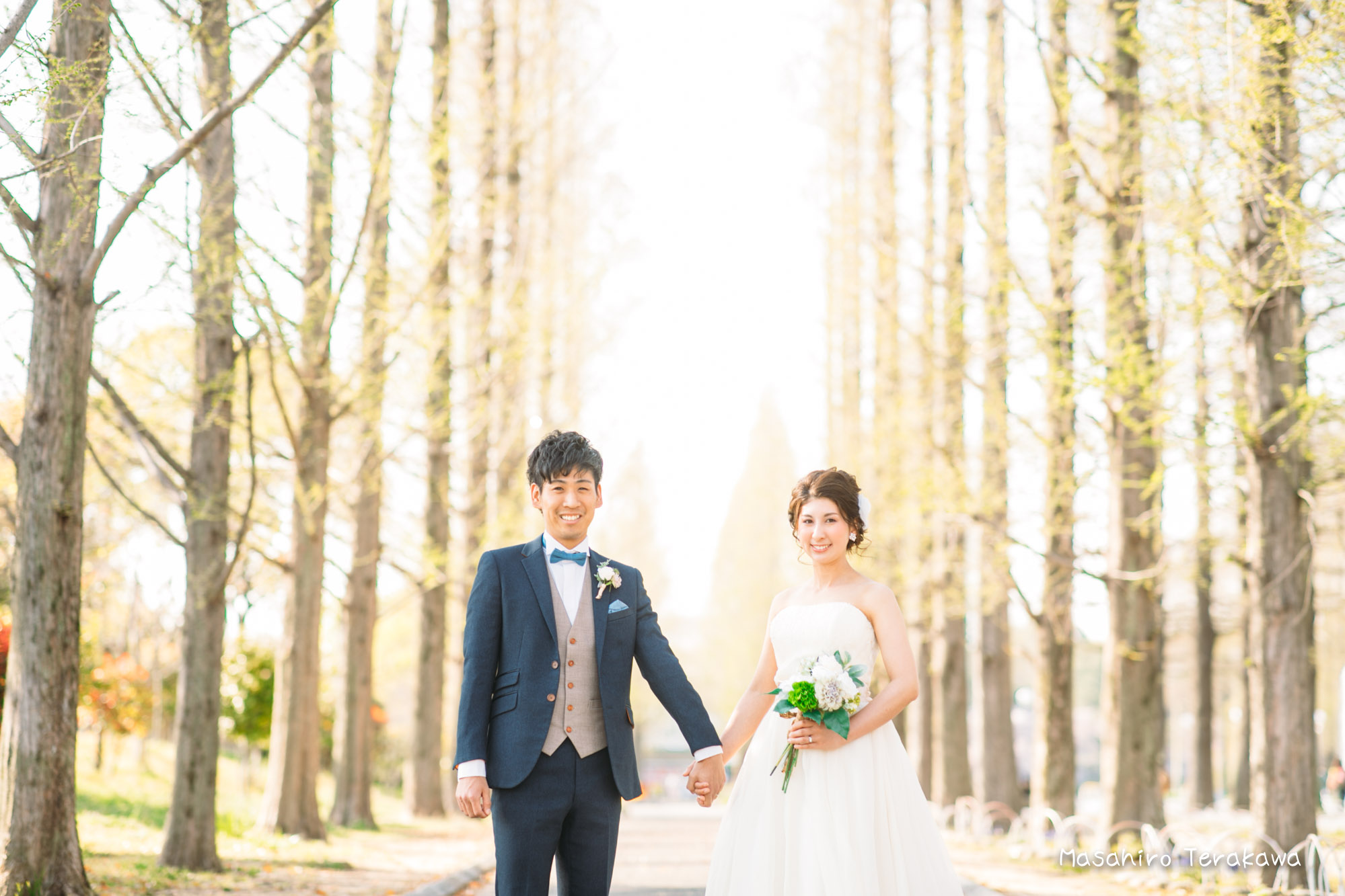 【大阪】鶴見緑地公園で結婚式の和装・洋装前撮り6