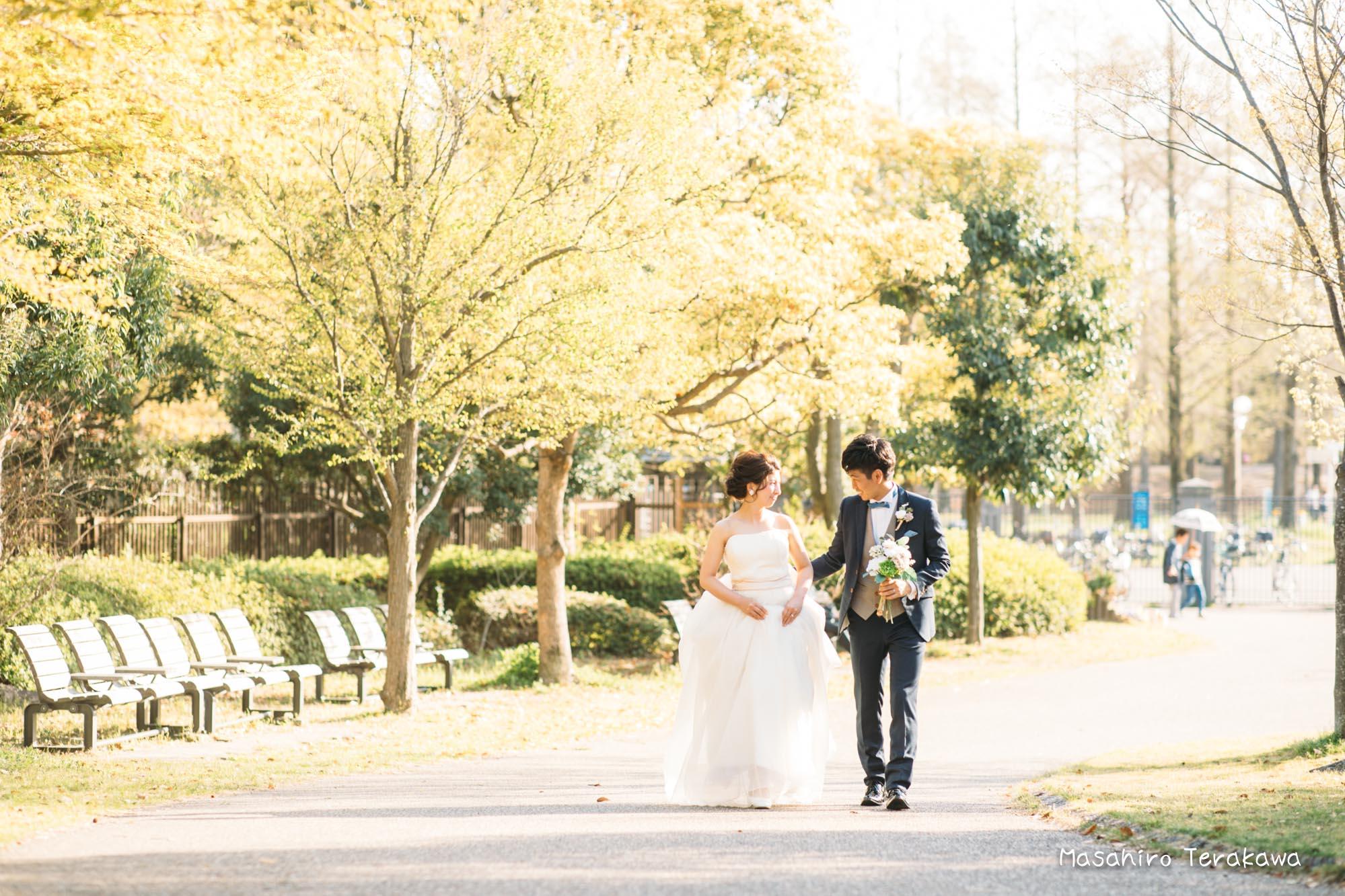 【大阪】鶴見緑地公園で結婚式の和装・洋装前撮り7