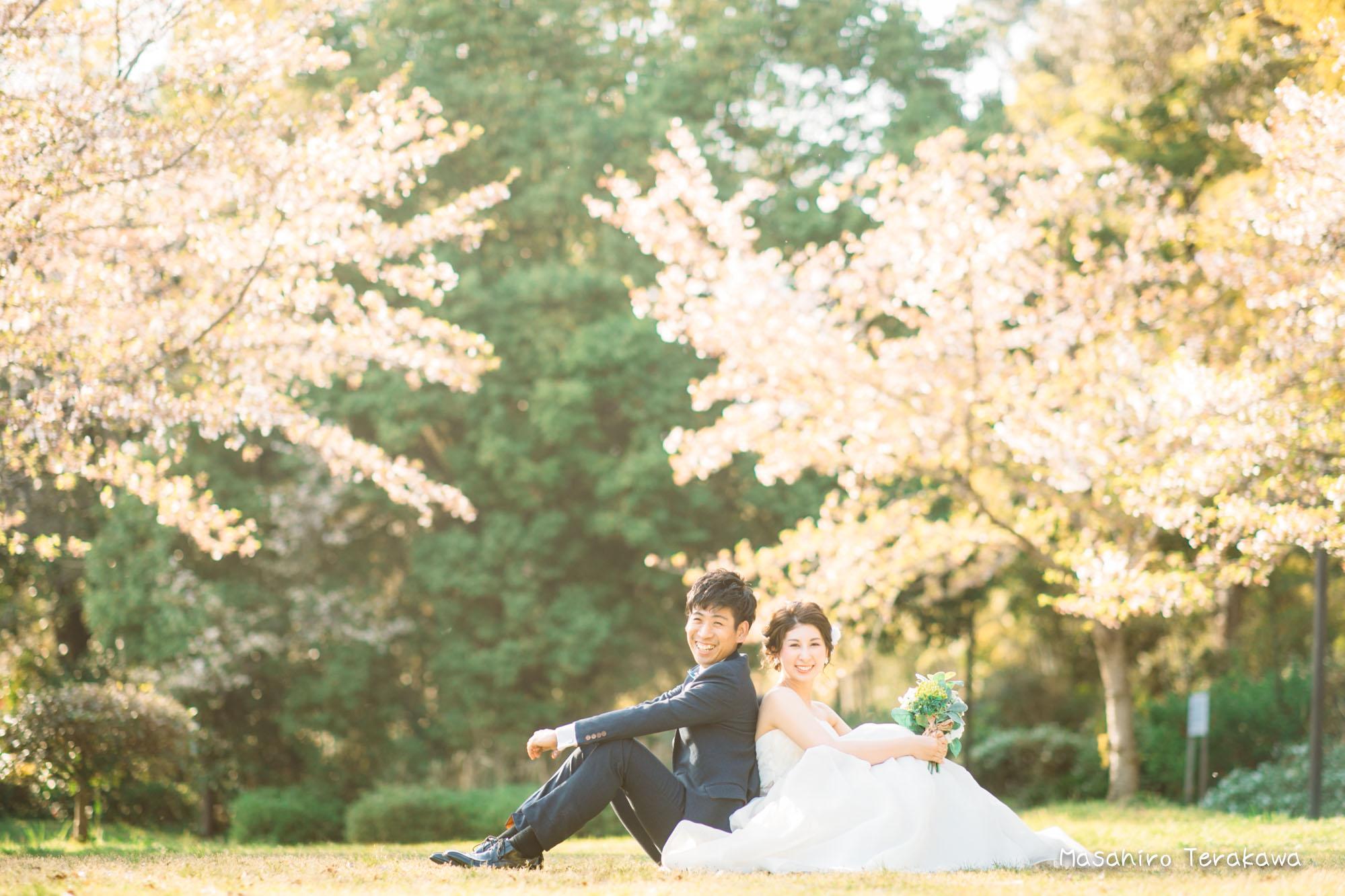【大阪】鶴見緑地公園で結婚式の和装・洋装前撮り9