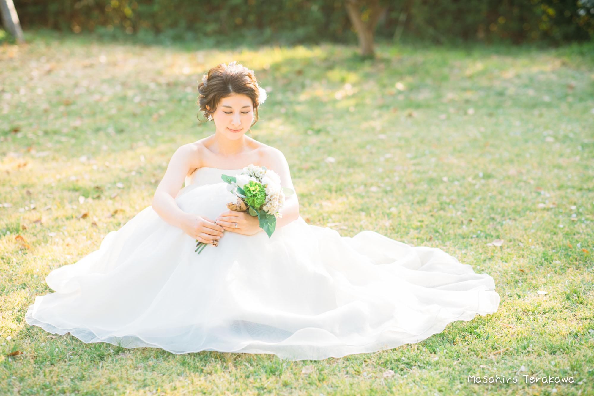 【大阪】鶴見緑地公園で結婚式の和装・洋装前撮り10