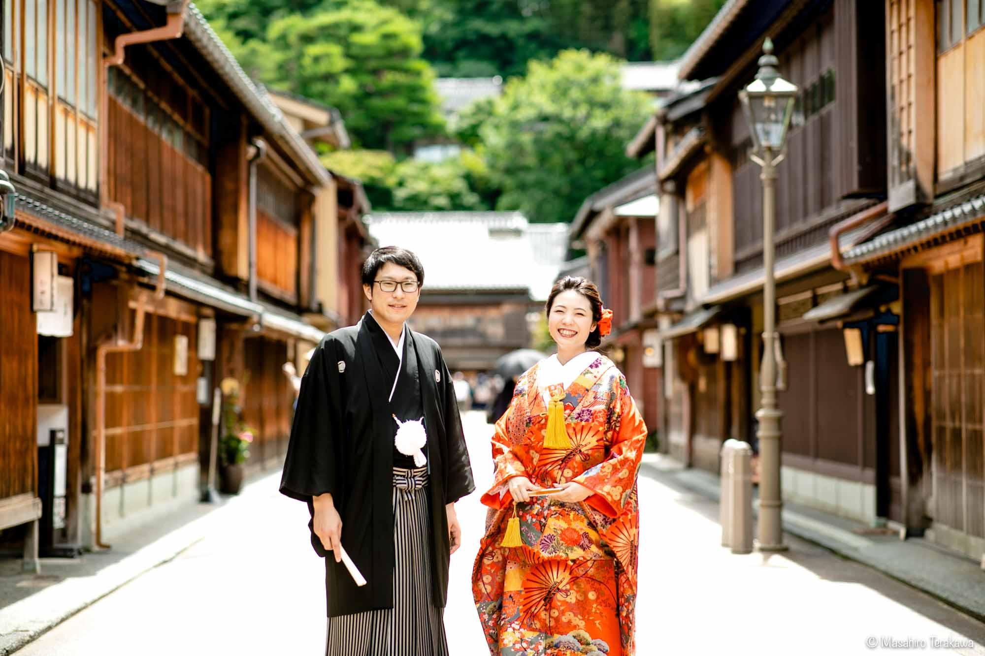 石川県金沢市で結婚式の和装前撮り写真撮影1