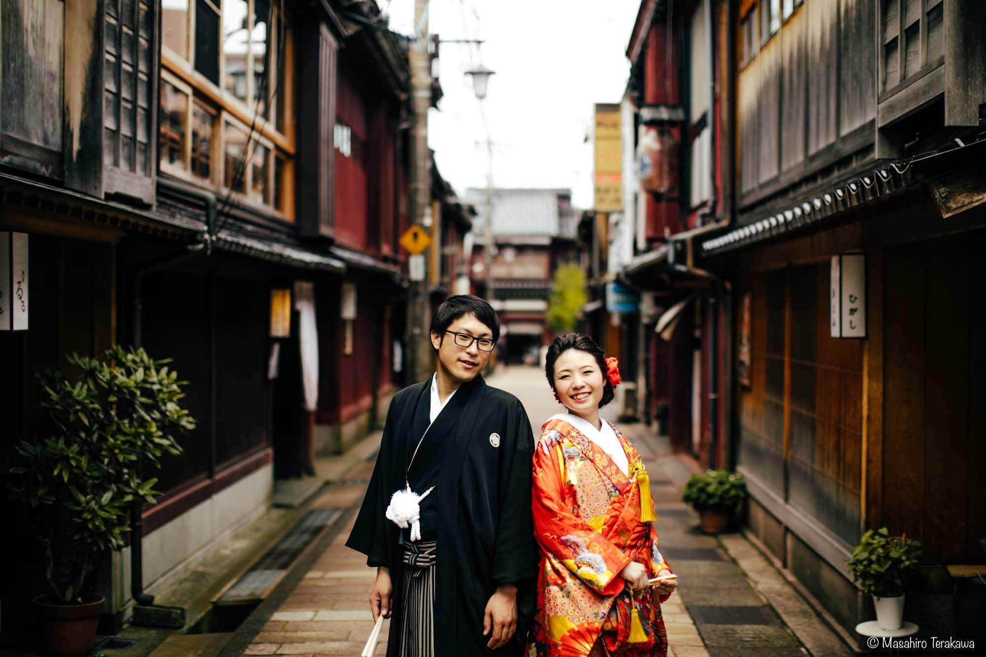 石川県金沢市で結婚式の和装前撮り写真撮影2