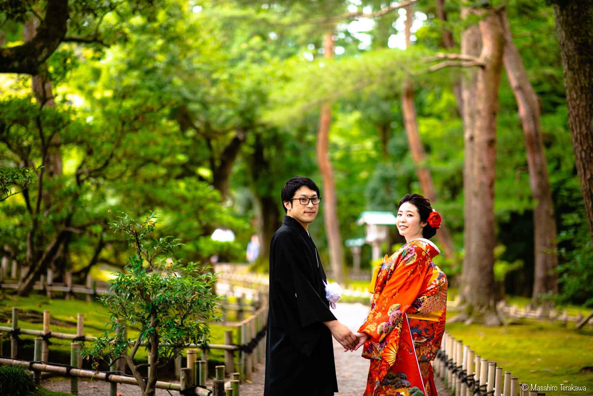 石川県金沢市で結婚式の和装前撮り写真撮影8