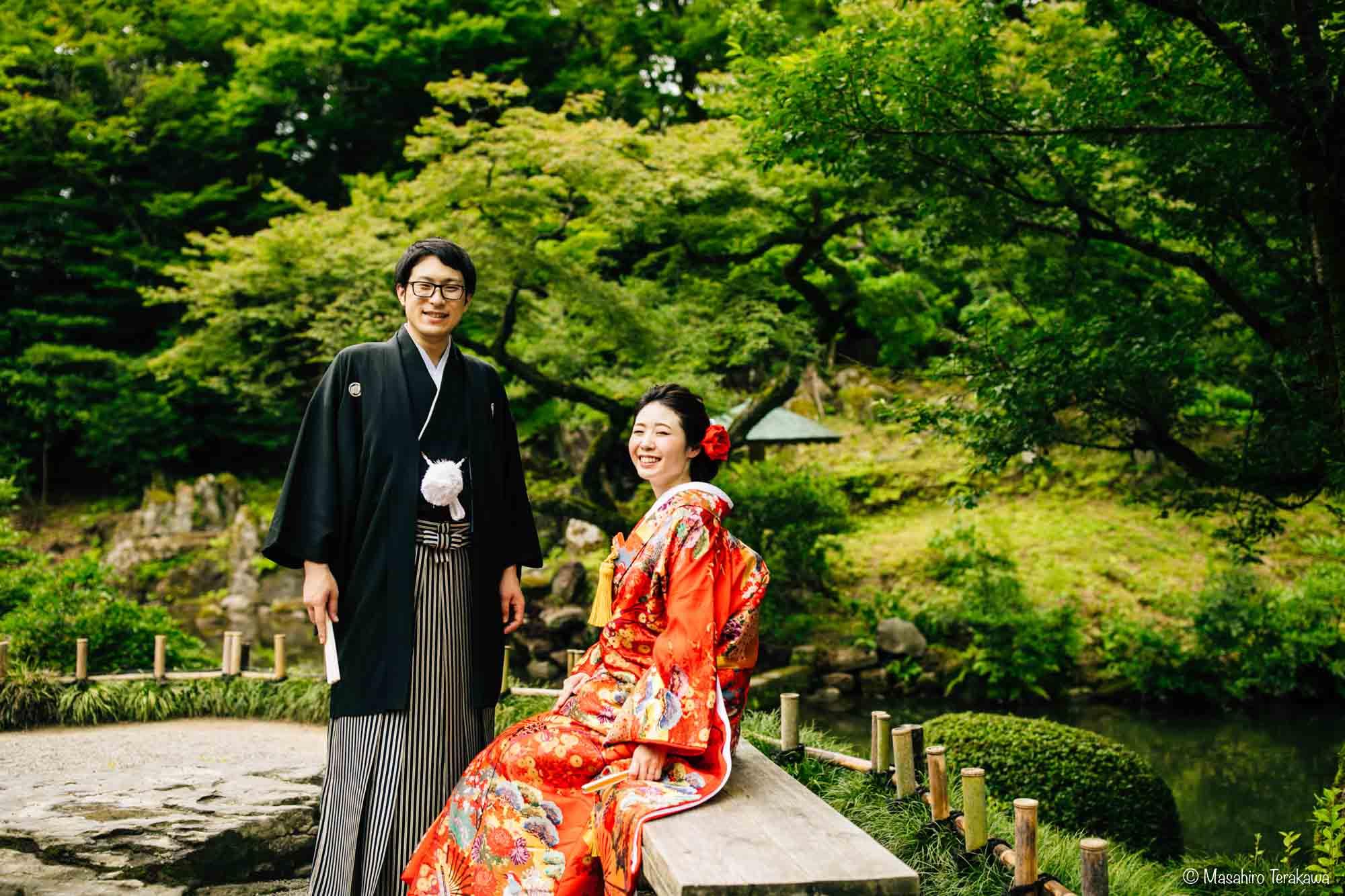 石川県金沢市で結婚式の和装前撮り写真撮影6